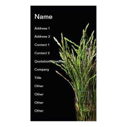 Asparagus Business Card Template
