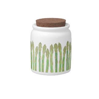 Asparagus Candy Jar