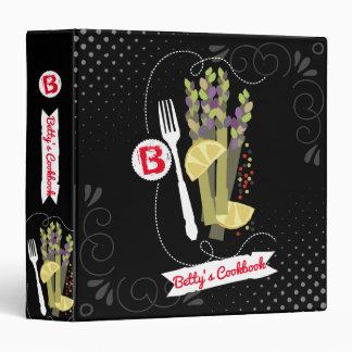 Asparagus fork lemon recipe cookbook binder