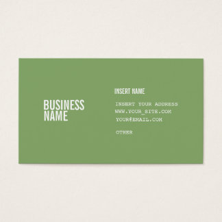 Asparagus Format With Columns Condensed Fonts Business Card