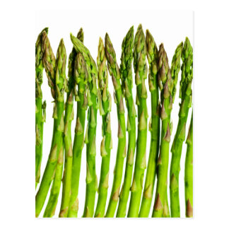 Asparagus on White Customizable - Vegetables Post Card