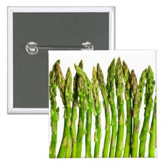 Asparagus on White - Customized Veggie Background Pinback Button