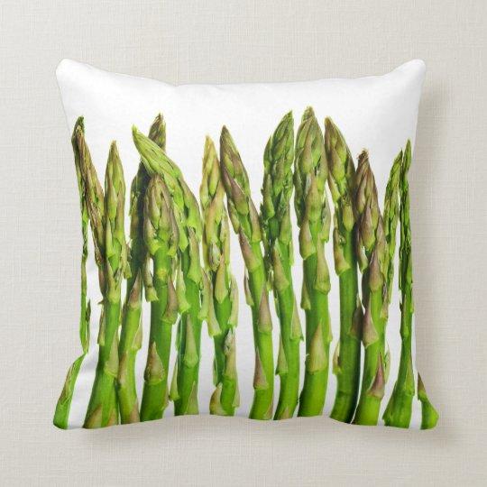 Asparagus on White - Customized Veggie Background Throw Pillow