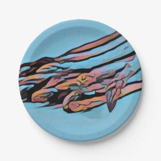 asparagus paper plate