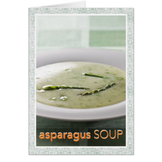 Asparagus Soup Recipe Card