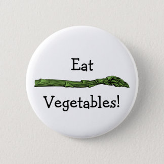 Asparagus spear pinback button