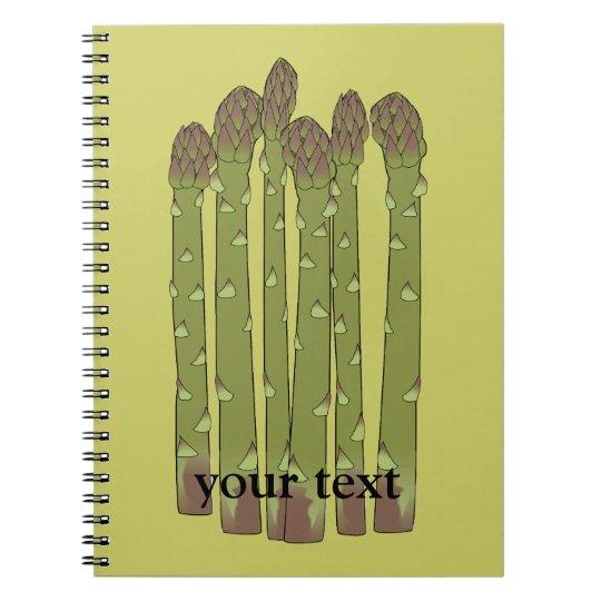 Asparagus Spears Vegetable Lover Veggies Spiral Notebook