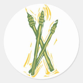 Asparagus Classic Round Sticker