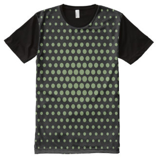 Asparagus Techno Dots Modern Black All-Over-Print T-Shirt