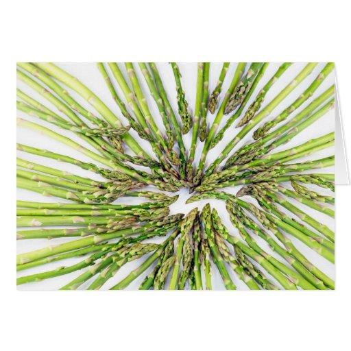 Asparagus Towards Center Greeting Cards