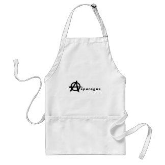 Asparagus with Anarchy Symbol Adult Apron