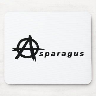 Asparagus with Anarchy Symbol Mouse Pad