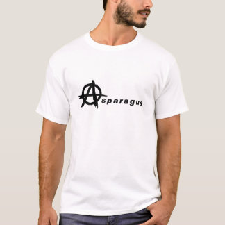Asparagus with Anarchy Symbol T-Shirt