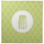 aspargus moderno del vintage servilleta