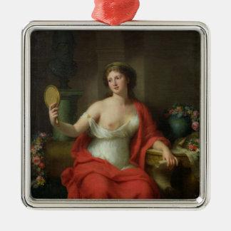 Aspasia, 1794 square metal christmas ornament