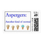 Aspbergers: another kind of normal postage stamps