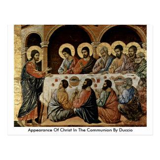 Aspecto de Cristo en la comunión por Duccio Postales