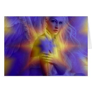 aspecto de un ángel hermoso tarjeta de felicitación