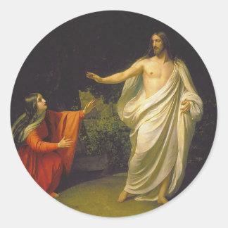Aspecto del Jesucristo a Maria Magdalina Pegatina Redonda
