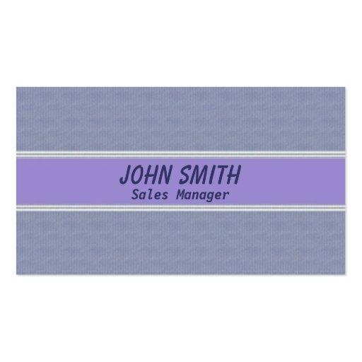 Aspecto violeta profesional de la tarjeta de visit tarjetas de visita