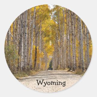 Aspen Alley In Autumn Classic Round Sticker