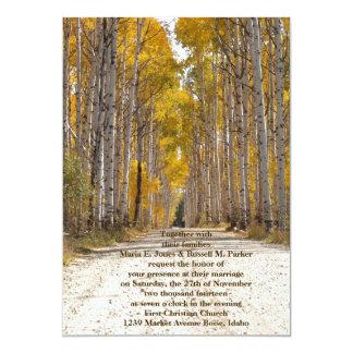 Aspen Alley In Autumn Wedding Card