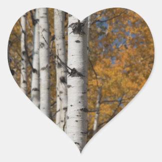 Aspen Alley in Fall Orane Heart Sticker