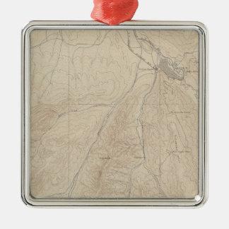 Aspen Atlas Sheet Square Metal Christmas Ornament
