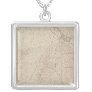 Aspen Atlas Sheet Square Pendant Necklace