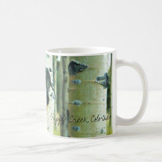 Aspen Bark, Cripple Creek, Colorado Coffee Mug
