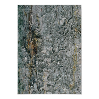Aspen bark, yellow and grey personalized invite