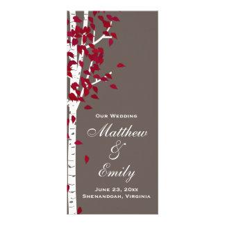 Aspen Birch Trees Wedding Program