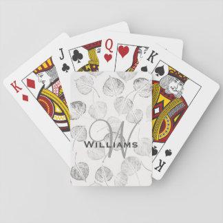 Aspen Black and White Monogram Card Decks