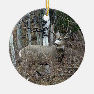 Aspen buck ceramic ornament