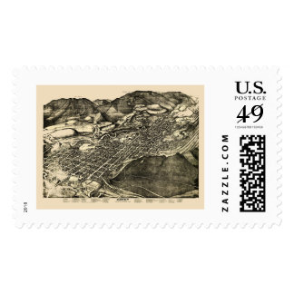 Aspen, CO Panoramic Map - 1893 Postage Stamps