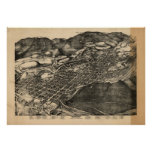 Aspen Colorado 1893 Antique Panoramic Map Poster