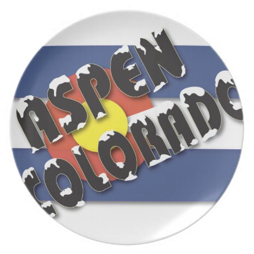 Aspen Colorado - bandera del estado Platos