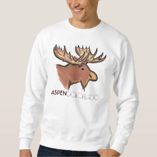 Aspen Colorado brown moose unisex sweatshirt
