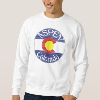 Aspen Colorado circle flag guys sweatshirt