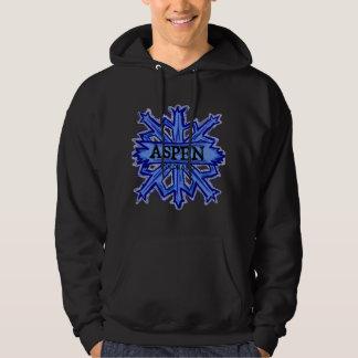 Aspen Colorado dark winter snowflake hoodie