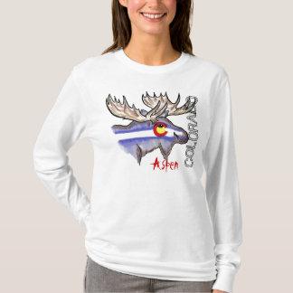 Aspen Colorado elk ladies hoodie