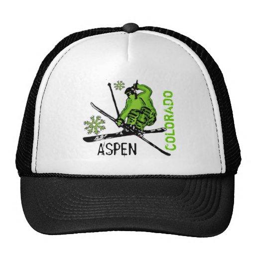 Aspen Colorado green theme skier hat