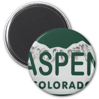 Aspen Colorado license plate Magnet