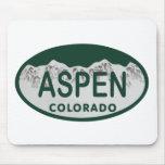 Aspen Colorado license plate Mouse Pads