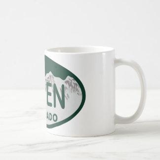 Aspen Colorado license plate Mug