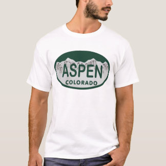 Aspen Colorado license plate T-Shirt
