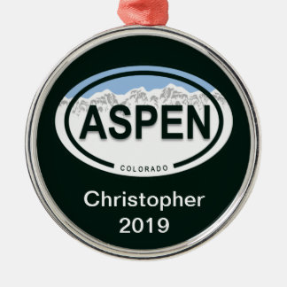 Aspen Colorado Mountain Tag Ornament
