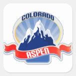 Aspen, Colorado Colcomanias Cuadradas Personalizadas