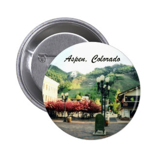 Aspen, Colorado Pin Redondo De 2 Pulgadas