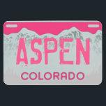 "Aspen Colorado pink license plate magnet<br><div class=""desc"">Other Aspen Colorado magnets you might enjoy:</div>"